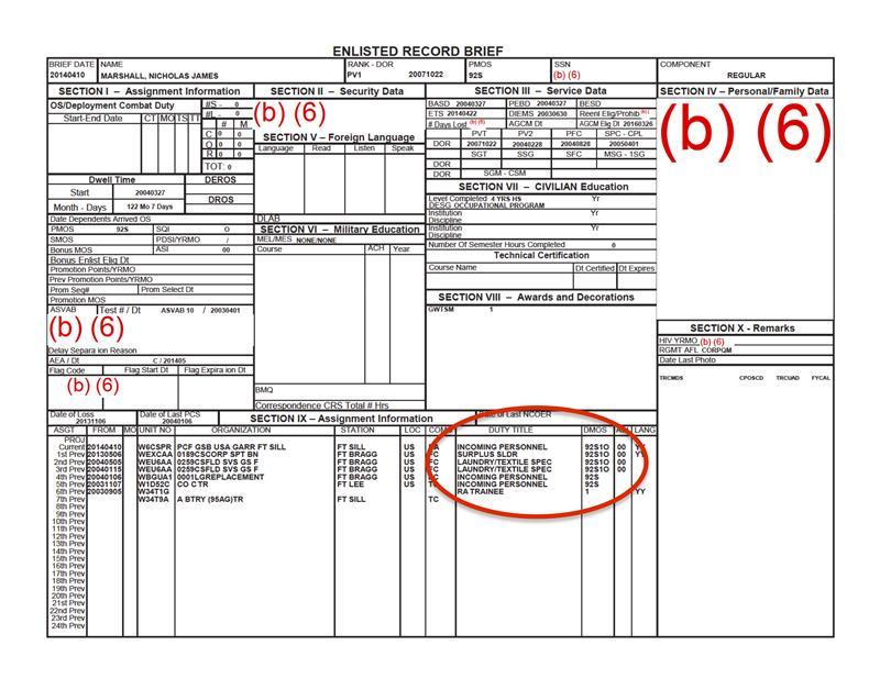 officer record brief